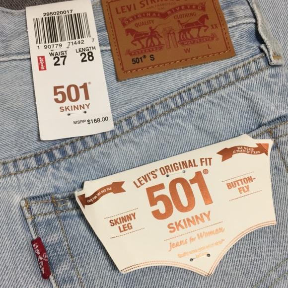 29e3d88c283 New Levi s 501 Skinny Jeans
